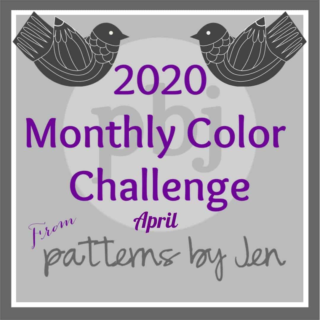 2020 Monthly Color Challenge April
